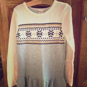 Gymboree sweater dress and matching tights